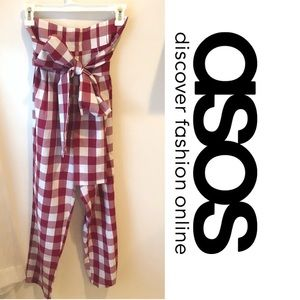 ASOS - high waisted red gingham pants